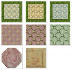 Ceramic tiles molded