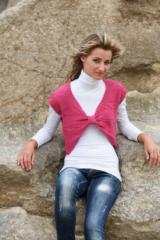 Женска плетена жилетка