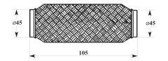 Мека връзка с тройна оплетка Ф45х100