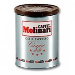 Кафе  Molinari Five Stars 250гр на зърна / мет.