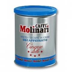 Кафе  Molinari Five Stars Decaffeinato 250гр на