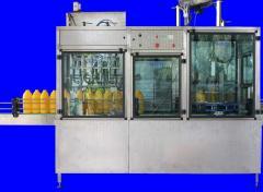 Полуавтоматични машини за бутилиране на хранителни
