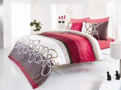 Спален комплект от памучен сатен Nova brown