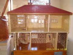Умален модел на дървена къща