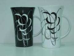 Чаша черно и бяло 500мл