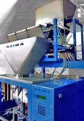 Вертикална опаковъчна машина с тегловни дозатори