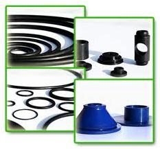 Sealing rubber sleeves for hydraulic devices