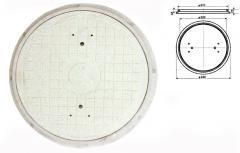 Капак кръгъл за кабелни шахти Лек тип
