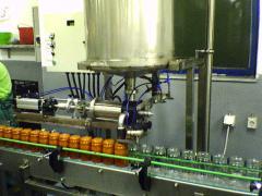Liquid and medium-soft products volume-dosing