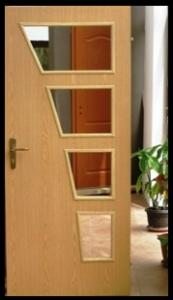 Doors made of pressed wooden plates