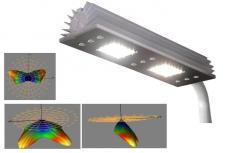 Улична лампа за висок монтаж  2x 40W  със