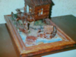 Wood art goods