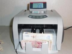 Counter of bank notes