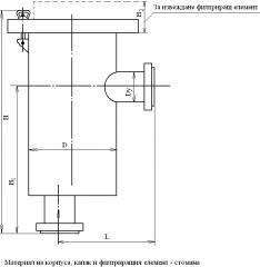 Филтри за грубо очистване ъглови - DY40 ДО 200; РУ
