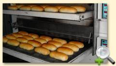 Етажна пещ за хляб с възвратно-постъпателно