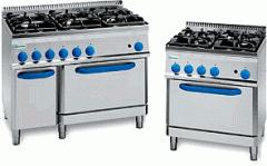 Печка с електрическа фурна и шест газови горелки