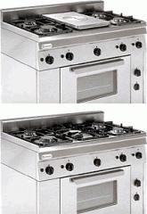 Печка с газова фурна и пет газови горелки