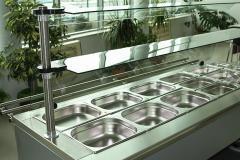Хладилна витрина с таблен път за бързо хранене