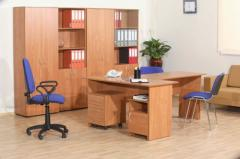 Офис в цвят череша
