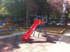 Children's park roller coasters
