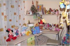 Обзавеждане за детска стая в декори акация, зелен