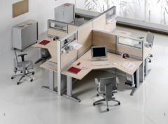 Офис обзавеждане с четири работни места