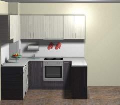 Кухня в светъл и тъмен цвят