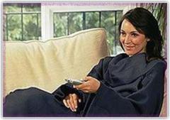 Поларено одеяло с Ръкави