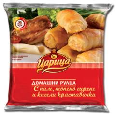 Домашни рулца с пиле, топено сирене и кисели