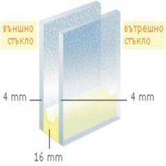 Стъклопакет Бяло/Стопсол