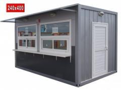 Павилион будка 240x400