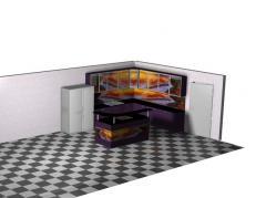 Луксозна кухня с принт стъкло