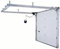 Секционни гаражни врати ISO 45 с ръчно и