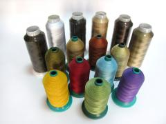 Конци от полиестерна коприна