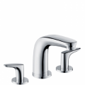 Смесител за мивка с 3 отвора и управление за сифон Metropol E