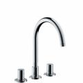 Смесител за мивка с 3 отвора и управление за сифон Axor Uno²