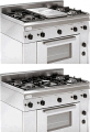 Печка с газова фурна и пет газови горелки TECNOINOX PF 5 GG/0
