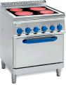 Печка електрическа с четири индукционни плочи, фурна GN 2/1 TECNOINOX PFC 70 E7