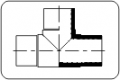 Тройник (дълго изпълнение) РЕ 100 черен