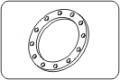 Свободен фланец DIN (метална вложка) PN10/16 РP-FRP черен