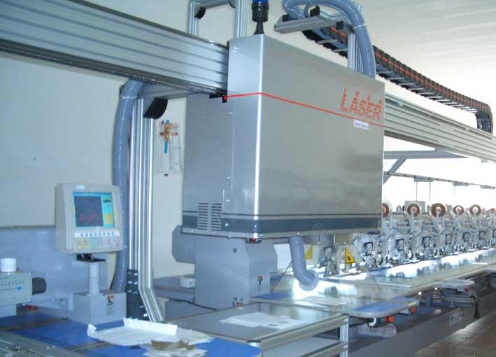 Поръчка Комбинация автоматична бродираща машина и мостов лазер за изработване на многослойни апликации и гравиране