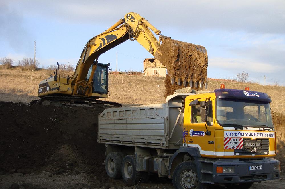 Поръчка Превоз на земни маси и строителни отпадъци