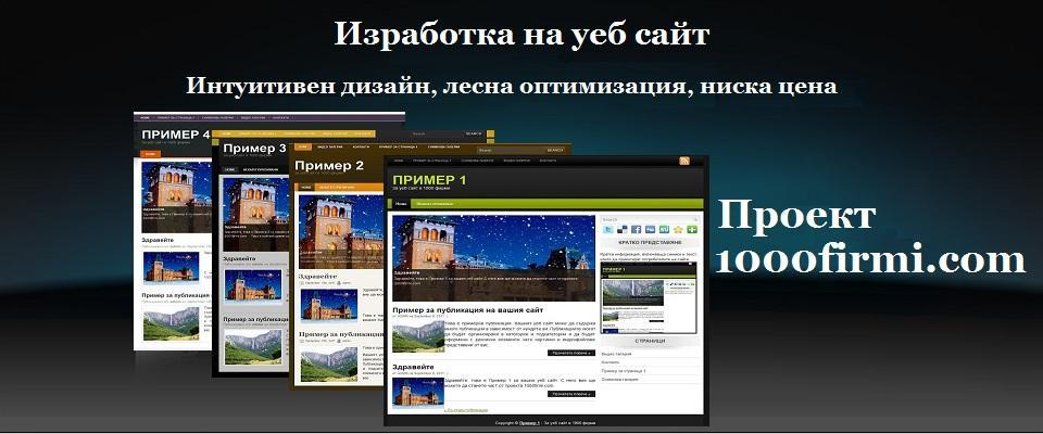 Поръчка Изработка на уеб сайт