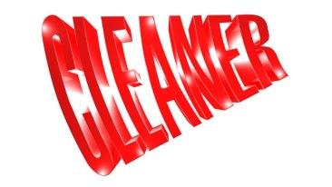 Поръчка 3D лого MAX Cleaner, лого триизмерна визуализация