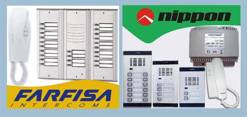 Поръчка Доставка, монтаж и сервиз на аудио и видео домофони FARFISA и NIPPON