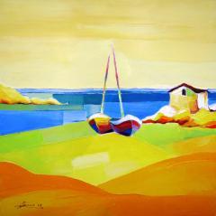 Картина Самотни лодки