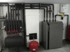 Mounting of separate heating systems