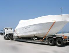 Специализиран сухопътен транспорт на яхти