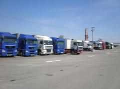Отдаване на открит паркинг на камиони