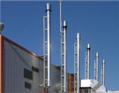 Mounting and replacement of industrial smokestacks